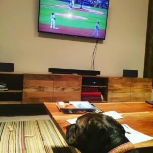 Ruby watches the NLDS with me